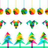 Vector seamless background, New Year 2015 Stock Photo