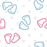 Seamless background pattern baby footprints Stock Image