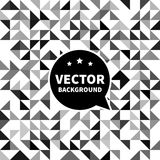 Vector seamless background pattern, white black triangle. Royalty Free Stock Photo