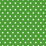 Vector seamless background with polka dot ornament made in green traditional Merry Christmas color Royalty Free Stock Photo