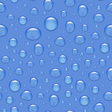 Vector seamless background - realistic water drops on glass. Royalty Free Stock Image