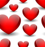 Vector seamless background with red hearts royalty free illustration
