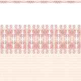 Vector seamless background. Red lace Stock Photography