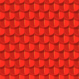 Vector seamless background. Red tile roof Stock Photography