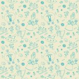 Vector seamless background. Seamless pattern. Royalty Free Stock Images