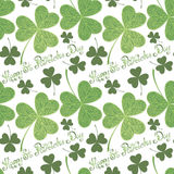 Vector Seamless Background for St. Patrick's Day Royalty Free Stock Photo