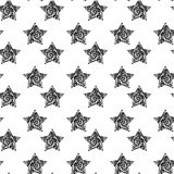 Vector seamless background with stylish retro grunge scratch stars. Eps 10 Stock Photos