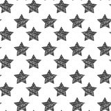 Vector seamless background with stylish retro grunge scratch stars. Eps 10 Royalty Free Stock Photos