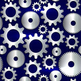 Vector seamless background in tech style with golden gears Royalty Free Stock Photos