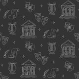 Vector seamless background with theater symbols Stock Photo
