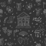 Vector seamless background with theater symbols Stock Image