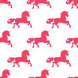 Vector seamless background of unicorns. Stock Photo