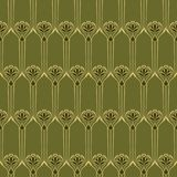 Vector seamless background. Vector seamless background with vintage art deco pattern for design, print, embroidery Royalty Free Stock Images
