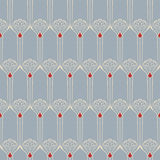 Vector seamless background. Vector seamless background with vintage art deco pattern for design, print, embroidery Stock Photos
