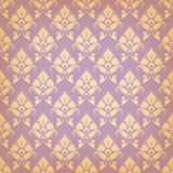 Vector seamless background in vintage style. Filigree pattern of floral elements Royalty Free Stock Photography
