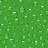 Vector seamless background - water drops on green Royalty Free Stock Image