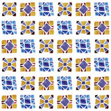Vector Seamless Background  with Watercolor Geometric Pattern Royalty Free Stock Photos