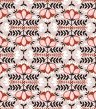 Vector seamless background with  wild roses, vintage style. Stock Photography