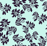 Vector Seamless Background With Flowers Royalty Free Stock Images