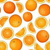 Vector Seamless Background With Oranges. Royalty Free Stock Photos