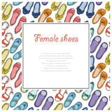 Vector seamless background with women's shoes Royalty Free Stock Photo