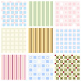 Vector seamless backgrounds Royalty Free Stock Photography