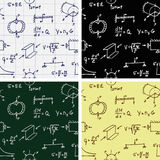 Vector Seamless Backgrounds with Formulas and Curves Pattern Royalty Free Stock Photo