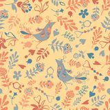 Vector seamless with birds Stock Images