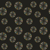 Vector. Seamless black background with colorful circles. Suitable for packaging, paper, fabrics, textile, wallpaper print. Vector. Seamless black background Stock Images