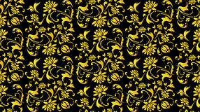 Vector seamless black and gold flower Royalty Free Stock Photography