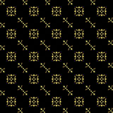 vector seamless black-gold texture Royalty Free Stock Photo