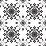 Vector seamless black ornament background. And geometric pattern Royalty Free Stock Photo