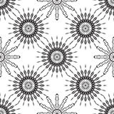 Vector seamless black ornament background. And geometric pattern Stock Photos