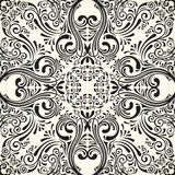 Vector seamless black pattern with art ornament. Vintage elements for design in Victorian style Royalty Free Stock Images