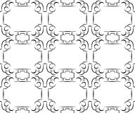 Vector seamless black pattern on a white. wallpaper Royalty Free Stock Images