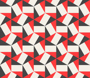 Vector Seamless Black Red White Hexagonal Triangles Rectangles Pattern Stock Photo