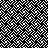 Vector Seamless Black And White Abstract Geometric Cross Tiling Line Pattern Royalty Free Stock Photography