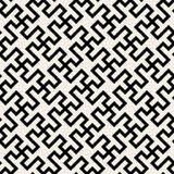 Vector Seamless Black And White Abstract Geometric Cross Tiling Line Pattern Royalty Free Stock Photos