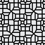 Vector Seamless Black And White Abstract Geometric Line Pavement Pattern Stock Photography