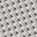 Vector Seamless Black And White Abstract Geometric Rectangilar Cross Halftone Tiling Pattern Royalty Free Stock Photos