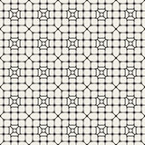 Vector Seamless Black And White Abstract Geometric Rounded Pavement Pattern Stock Image