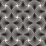 Vector Seamless Black and White Arc Lines Grid Pattern Royalty Free Stock Image