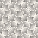 Vector Seamless Black and White Arc Shape Stipple Halftone Pattern Stock Images