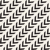 Vector Seamless Black And White Arrow Diagonal Lines Geometric Pattern Royalty Free Stock Photo