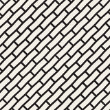 Vector Seamless Black And White Brick Pavement Diagonal Lines Pattern Stock Photography