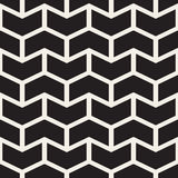Vector Seamless Black And White Chevron ZigZag Lines Geometric Pattern Royalty Free Stock Photo