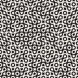 Vector Seamless Black and White Circles Rounded Maze Halftone Truchet Pattern Royalty Free Stock Photos