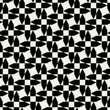 Vector Seamless Black And White Cross Arrow Shape Geometric Pattern Stock Photography