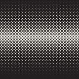 Vector Seamless Black and White  Cross Halftone Grid Gradient Pattern Geometric Background Stock Images