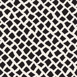 Vector Seamless Black and White Distorted Pavement Pattern Royalty Free Stock Image